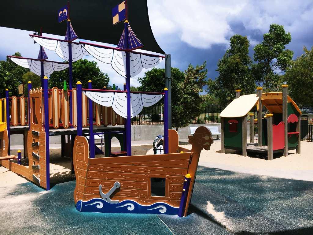 Fenced play area, Peninsula Recreation Park, Umina