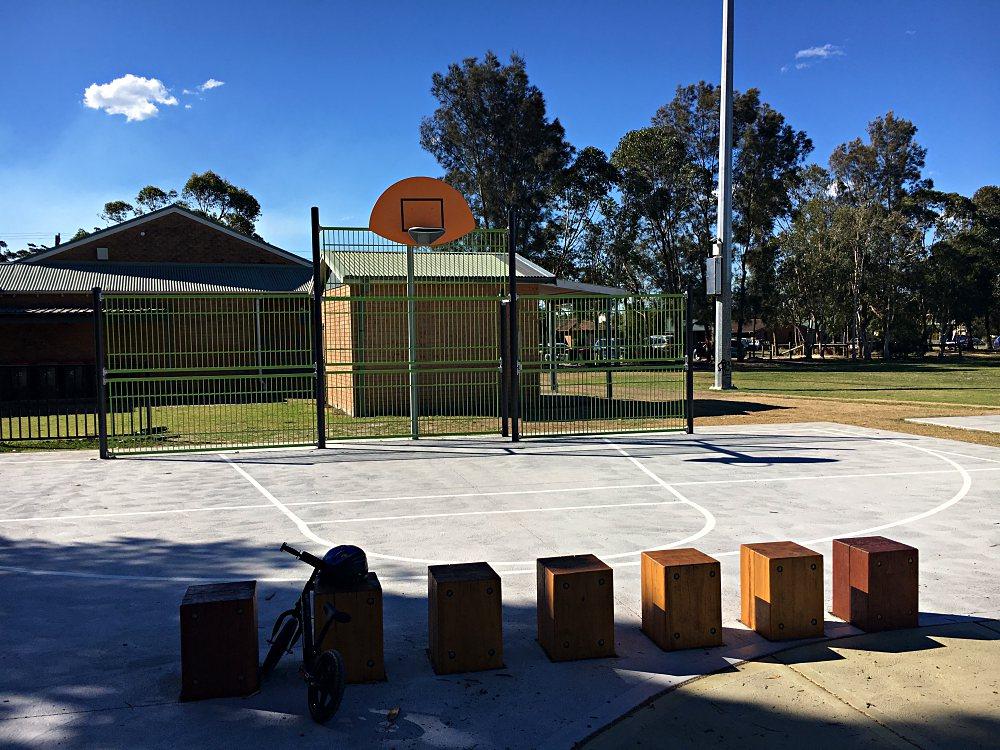 Basketball hoop at Kurraba Oval Park Berkeley Vale
