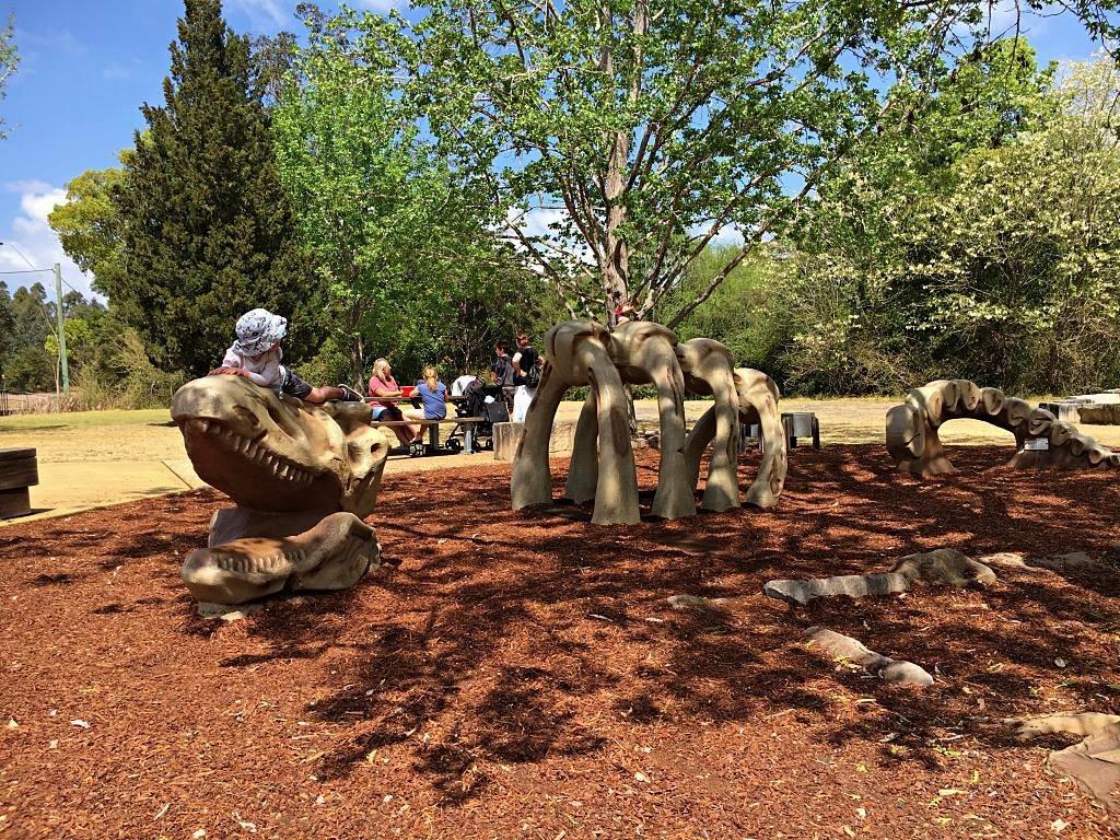 Climb on a Dinosaur Skeleton at the Bill Sohier Park in Ourimbah!