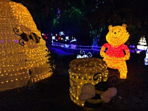 winnie the pooh at the hunter valley gardens christmas lights spectacular