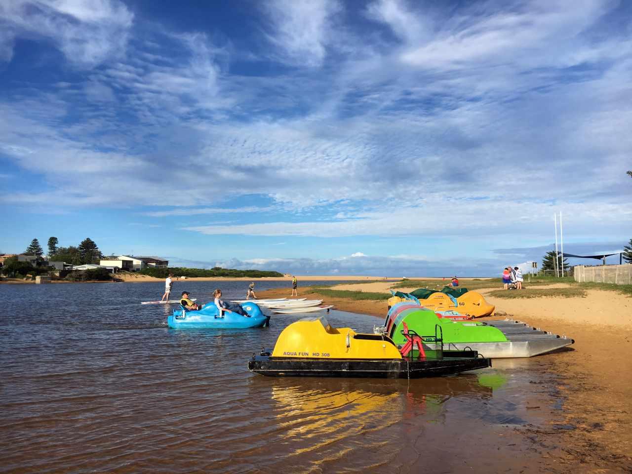 Aquafun - stand-up paddle boards, kayaks and peddle boats at Avoca Lake