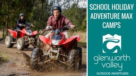 Glenworth Valley Adventure Max School Holidays Banner