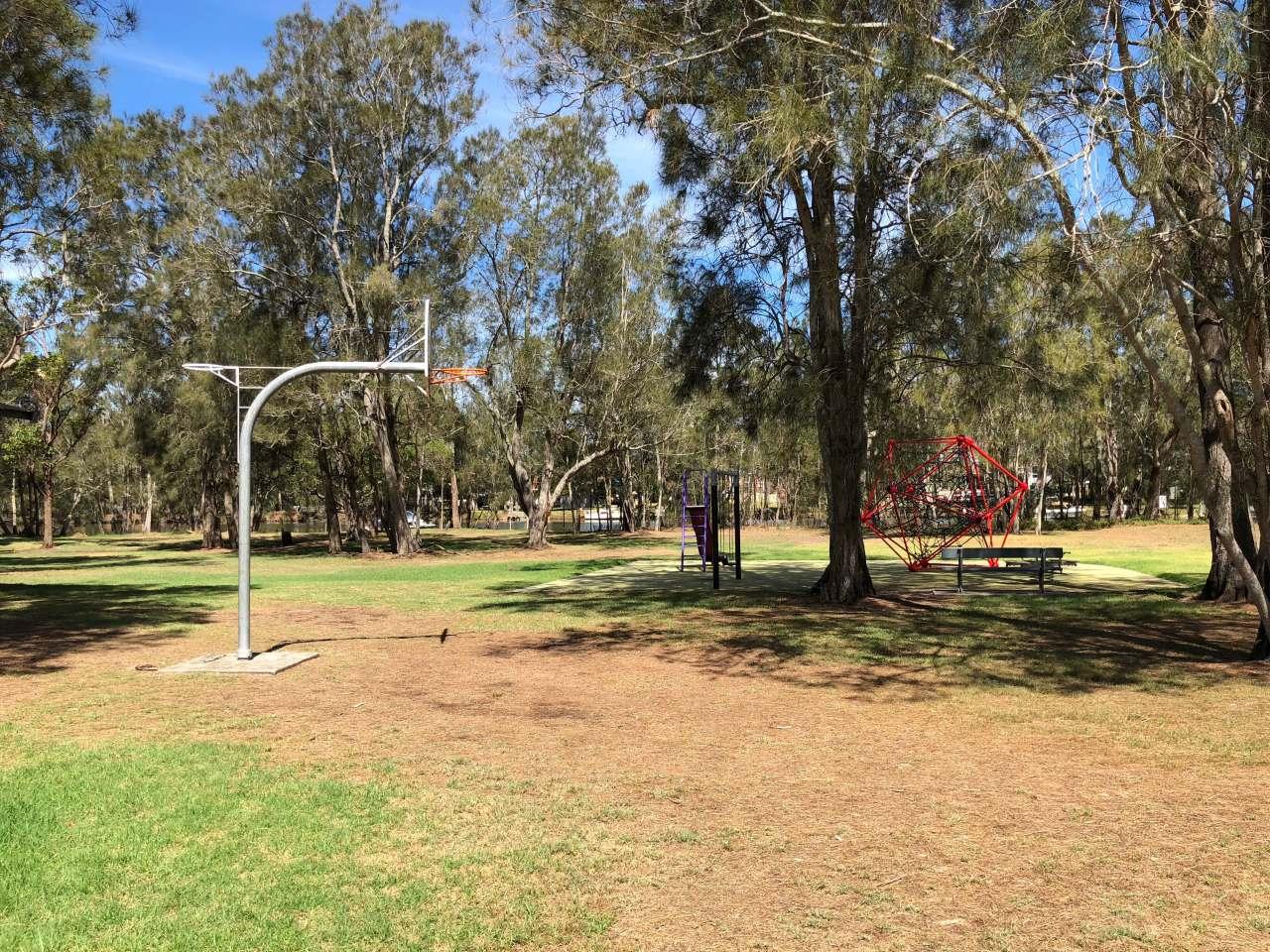 Basketball hoop at Sunshine Reserve, Chittaway
