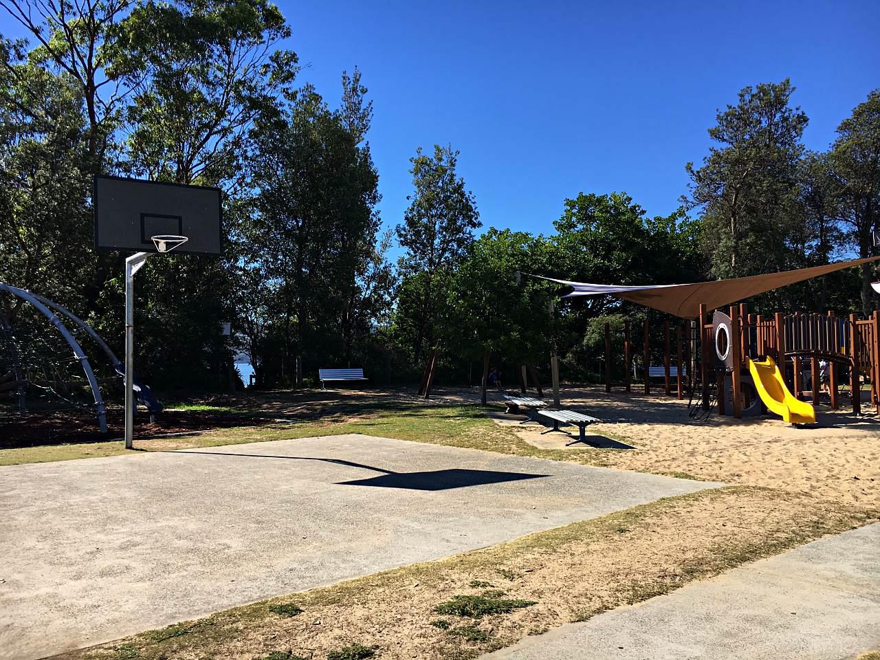 Basketball Hoop at Patonga Camping Ground Playground