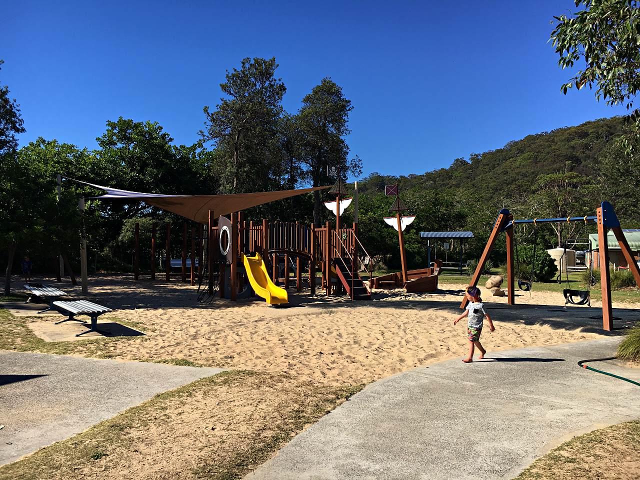 Patonga Camping Ground Playground in Brisbane Waters National Park