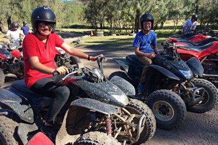 Quad biking family fun at Glenworth Valley