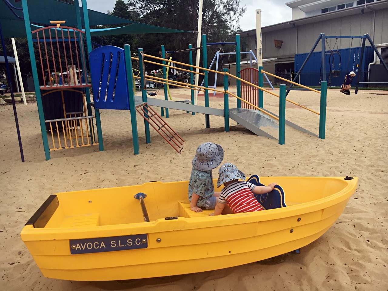 The boat at Avoca Beach park