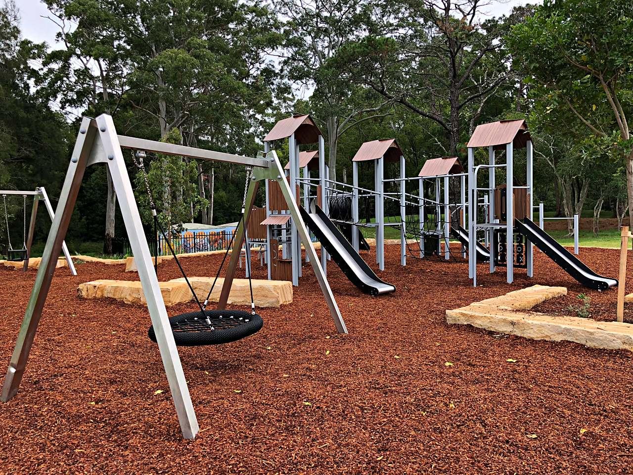 Alan Davidson Oval playground group swing