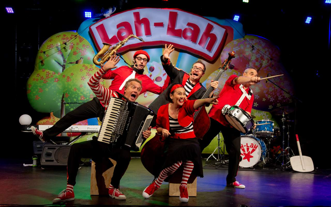 Lah-Lah's Big Live Band is visiting this weekend!