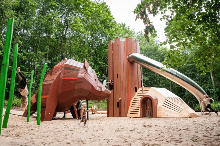 Monstrum playground in Viborg, Denmark. Image ©Monstrum.