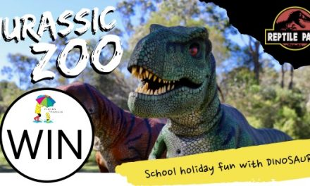 See dinosaurs at The Australian Reptile Park these holidays!