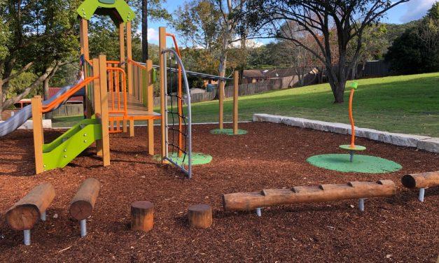 New Toddler Park at Treeline Close, Narara