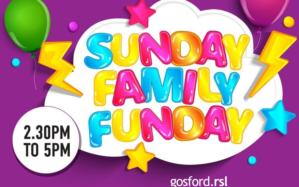 "Free NEW ""Sunday Family Fun Days"" at Gosford RSL"