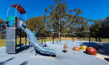 Enjoy a bike ride and make a play pitsop at this awesome park on the water