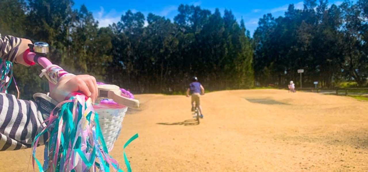 Get the kids' pedals pumping at this awesome BMX facility at Saltwater Creek, Long Jetty