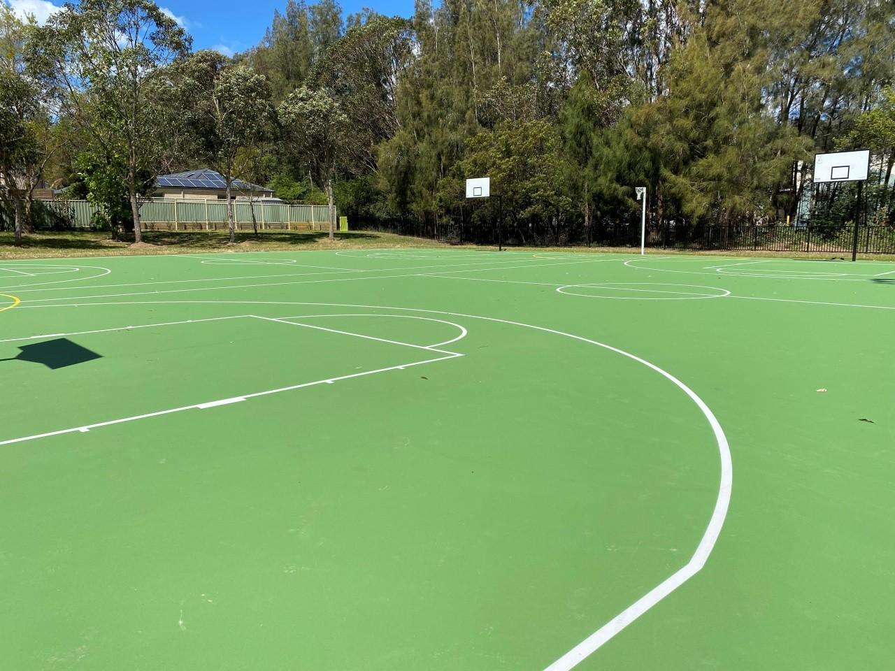 Sun Valley Park Green Point Basketball Court